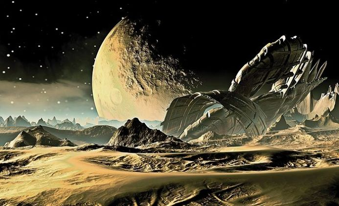Space - Alien Planet paper wallpaper | Homewallmurals